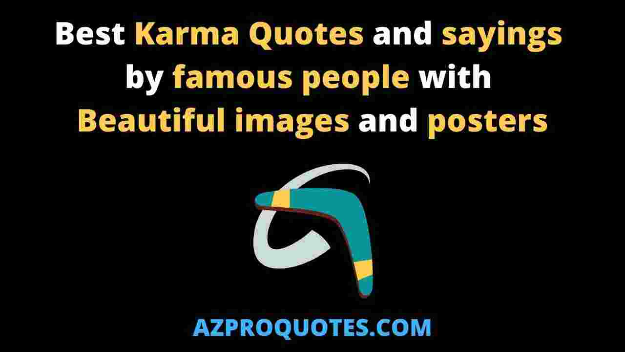 Karma Quotes and sayings with images and posters